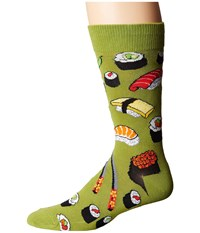 Socksmith Sushi Fern 1 Men's Crew Cut Socks Shoes Yellow