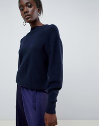 Moss Copenhagen Relaxed Knitted Jumper Navy
