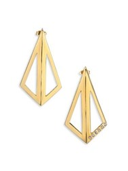 Tomtom Abstract Bouquet Collection Cubist Leaf Earrings Gold
