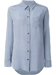 Equipment Gingham Print Shirt Blue