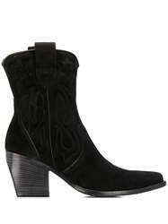 Kennel Schmenger And Stitching Detail Ankle Boots Black