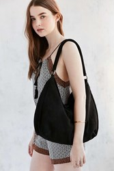 Ecote Kelly Suede Braid Shoulder Bag Black