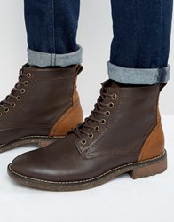 Call It Spring Praywien Laceup Boots Brown