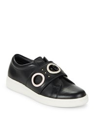 Calvin Klein Danette Slip On Leather Sneakers Black
