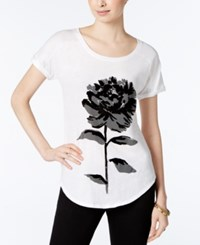 Lucky Brand Flower Graphic T Shirt Lucky White
