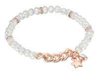 Guess Stretch Bead Bracelet With Star Drop Rose Gold Crystal Bracelet