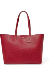Tom Ford T Small Textured Leather Tote One Size