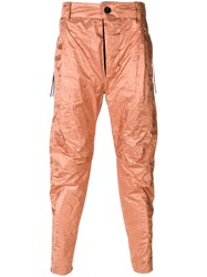 Cedric Jacquemyn Fitted Casual Trousers Metallic
