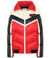 Gucci Printed Down Jacket Red