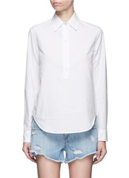 Rag And Bone 'Leeds' Button Back Shirt White