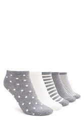 Forever 21 Polka Dot Ankle Socks 5 Pack