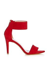 Karen Millen Ankle Cuff High Heel Sandals Red