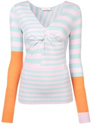 Tome Striped Fitted Jumper Blue