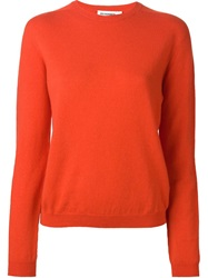Jil Sander Crew Neck Sweater Red