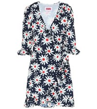 Solid And Striped Exclusive To Mytheresa Floral Wrap Dress Blue
