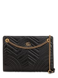 Gucci Gg Marmont Leather Shoulder Bag Black
