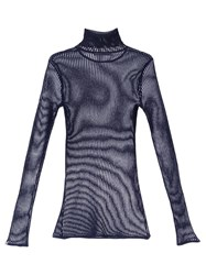 Camilla And Marc Cohen Sheer Knit Blue