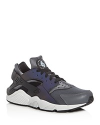 Nike Men's Air Huarache Run Lace Up Sneakers Dark Gray White