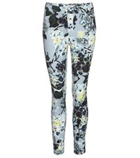 Erdem Sidney Printed Cropped Cotton Trousers Blue