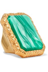 Balenciaga Gold Tone Resin Ring 52 Gbp
