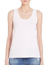 Ag Jeans Sleeveless Pima Cotton Tank Top True White