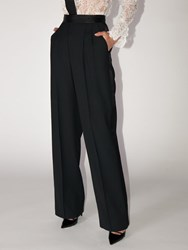 Ermanno Scervino High Waist Viscose Blend Pants Black
