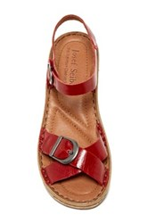 Josef Seibel Kira 09 Leather Wedge Sandal Red