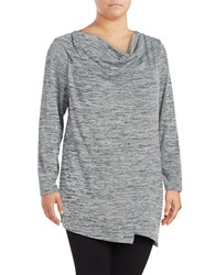 Marc New York Cowlneck Space Dyed Sweater Grey Heather