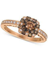Le Vian Chocolatier Diamond Halo Ring 1 2 Ct. T.W. In 14K Rose Gold