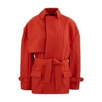Jacquemus Carini Short Coat Red Brick