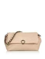Agnona Babe Leather Chain Shoulder Bag Nude