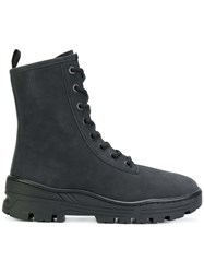 Yeezy Classic Fitted Boots Leather Suede Nubuck Leather Rubber Black