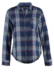 Hollister Co. Easy Shirt Navy Plaid Dark Blue
