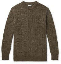 Connolly Cable Knit Cashmere Sweater Green