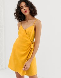 Moon River Cami Dress With Button Detail Orange