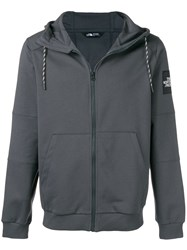The North Face Zipped Hoodie Grey