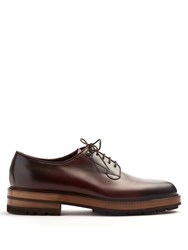 Fratelli Rossetti Dexter Raised Sole Leather Derby Shoes Burgundy