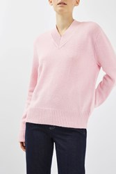 Topshop Lambswool Blend Jumper By Boutique Pale Pink