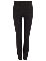 Phase Eight Lace Ponte Jeggings Black