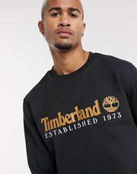 Timberland Essential Established 1973 Crew Sweater In Black