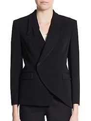 Cnc Costume National Asymmetrical Tuxedo Blazer
