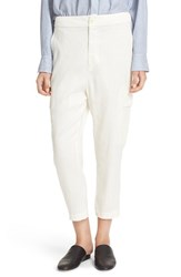Vince Women's Crop Linen Blend Cargo Pants Vanilla
