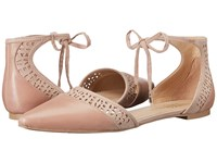 Franco Sarto Shirley Victorian Rose Leather Women's Dress Flat Shoes Brown