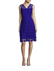 T Tahari Elora Sleeveless Lace Dress Waterfall