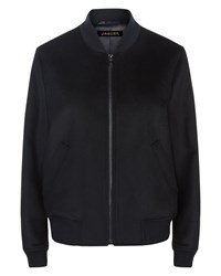 Jaeger Wool Bomber Jacket Black