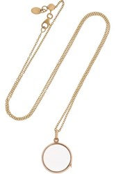 Loquet 14 Karat Gold And Glass Necklace One Size