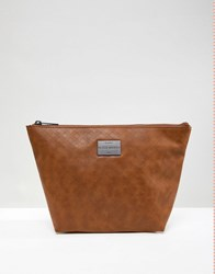 Peter Werth Tully Texture Toiletry Bag Tan