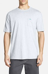 Tommy Bahama Men's Big And Tall 'New Bali Sky' Pima Cotton Pocket T Shirt Zinc Grey