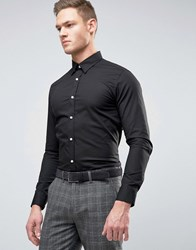 Selected Homme Super Skinny Smart Shirt Black