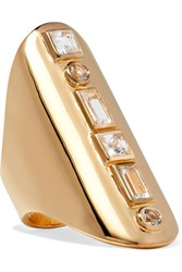 Elizabeth And James Jo Gold Tone Crystal Ring